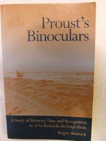 Proust's Binoculars: A Study of Memory, Time and Recognition in a LA Recherche Du Temps Perdu