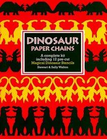 Dinosaur Paper Chains/a Complete Kit Including 12 Pre-Cut Magical Dinosaur Stencils