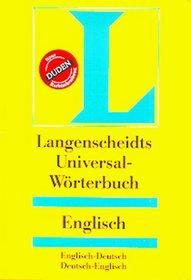 Langenscheidts Universal Worterbuch (German / English Edition)