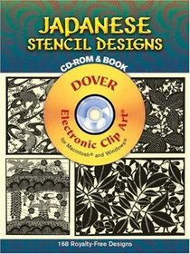 Japanese Stencil Designs CD-ROM and Book (Dover Electronic Clip-Art)