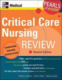 Critical Care Nursing Review (Pearls of Wisdom)