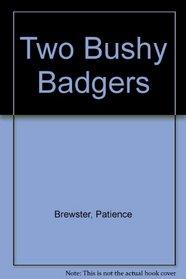 Two Bushy Badgers