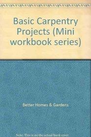 Basic Carpentry Projects (Mini workbook series)