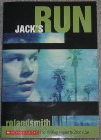 Jack's Run (Zach's Lie, Bk 2)