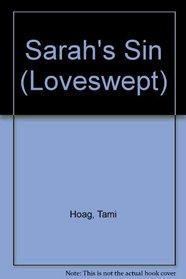 Sarah's Sin (Large Print)