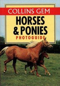 Horses  Ponies Photo Guide (Collins Gem)