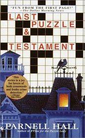 Last Puzzle and Testament (Puzzle Lady, Bk 2) (Large Print)