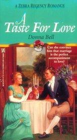 A Taste for Love (Zebra Regency Romance)