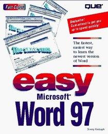 Easy Microsoft Word 97