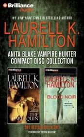 Laurell K. Hamilton Anita Blake Vampire Hunter CD Collection 2: The Harlequin, Blood Noir