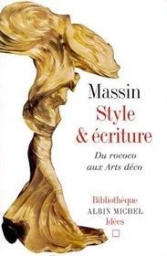 Style et Ecriture : Du rococo aux arts déco