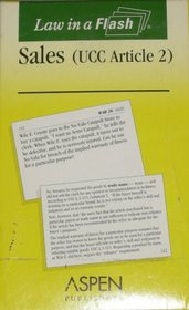 Law in a Flash: Sales Ucc Article 2 (Law in a Flash Cards)