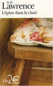L'Epine Dans LA Chair (French Edition)