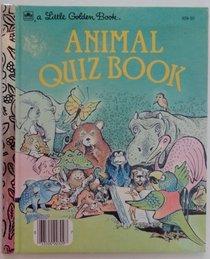 Animal quiz book