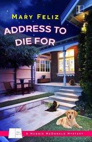 Address to Die For (Maggie McDonald, Bk 1)