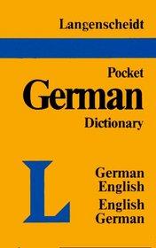 Langenscheidt's Pocket German Dictionary German-English English-German