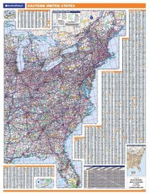 Eastern Us Regional Wall Map Eastern Us Regional Wall Map Eastern Us Regional Wall Map