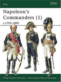 Napoleon's Commanders (1) C1792-1809 (Elite, 72)