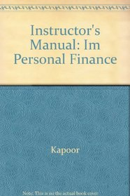 Instructor's Manual: Im Personal Finance