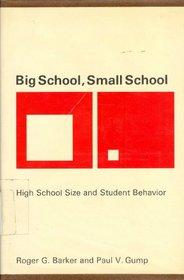 Big School, Small School: High School Size and Student Behavior