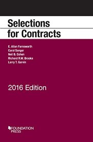 Selections for Contracts: 2016 Edition (Selected Statutes)