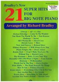 Bradley's New 21 Super Hits for Big Note Piano