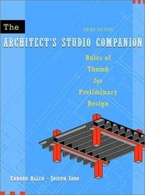 The Architect's Studio Companion, 3rd Edition