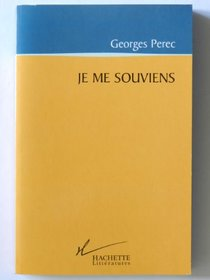 Je ME Souviens (French Edition)