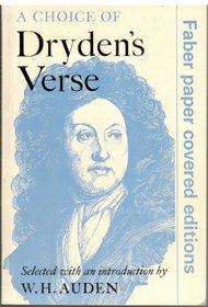 A Choice of Dryden's Verse
