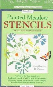 Painted Meadow Stencils: Cornflowers  Daisies