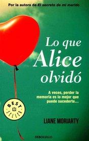 Lo que Alice olvid� (What Alice Forgot) (Spanish Edition)