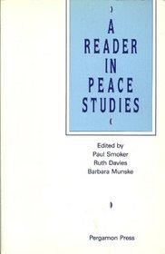 Reader in Peace Studies