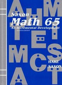 Saxon Math 65 Homeschool (Second Edition) (Student Text)