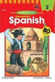 Elementary Spanish Level 2: Homework Booklet (Spanish)