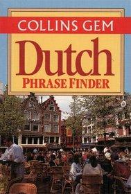 Dutch Phrase Finder (Collins Gem Phrase Finder)