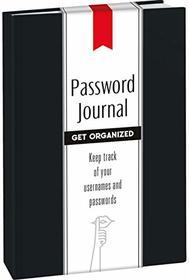 Password Journal: Midnight Black