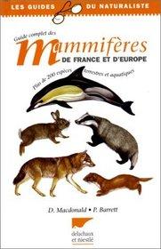 Guide complet des mammifères de France et d'Europe