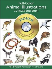 Full-Color Animal Illustrations CD-ROM and Book (Dover Pictorial Archives)