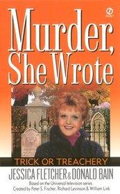Trick or Treachery (Murder, She Wrote, Bk 14) (Large Print)