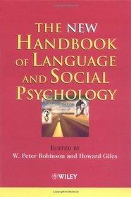 The New Handbook of Language and Social Psychology