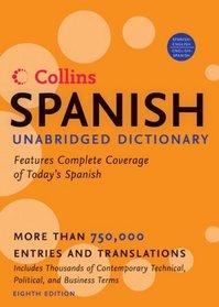 Collins Spanish Unabridged Dictionary, 8th Edition (Harpercollins Unabridged Dictionaries)