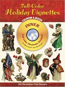 Full-Color Holiday Vignettes CD-ROM and Book (Dover Full-Color Electronic Design)