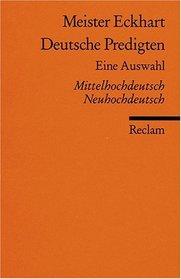 Deutsche Predigten. Mittelhochdeutsch/ Neuhochdeutsch.