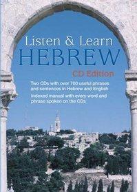 Listen & Learn Hebrew (CD Edition) (Listen & Learn)