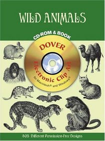Wild Animals CD-ROM and Book (Dover Pictorial Archives)