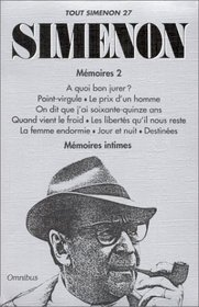 Tout Simenon, tome 27 (9 romans)