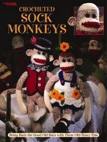 Crocheted Sock Monkeys Leaflet-Leisure Arts