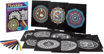 Mandalas Stained Glass Coloring Kit (Boxed Sets/Bindups)