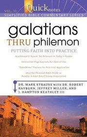 QUICKNOTES COMMENTARY VOL 11 - GALATIANS THRU PHILEMON (QuickNotes Commentaries)