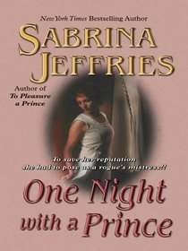 One Night With a Prince (Royal Brotherhood, No 3) (Large Print)